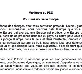 «Pour une nouvelle Europe», le manifeste du PSE adopté àRome