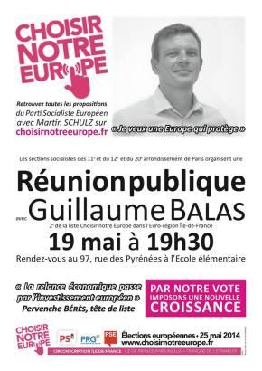 Européennes 2014 : venez me rencontrer à la réunion publique de ce lundi 19 mai dans le 20ème arr. deParis