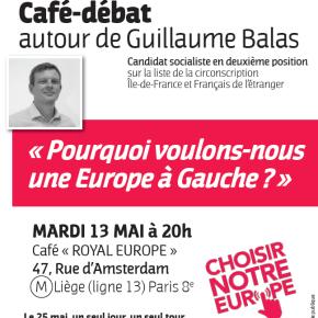 Mardi 13 mai, participez au Café-débat «Pourquoi voulons-nous une Europe à Gauche?»