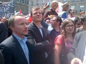 Manifestation des intermittents du spectacle devant leMinistère