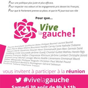 Rendez-vous le 30 août à la Rochelle pour que Vive LaGauche