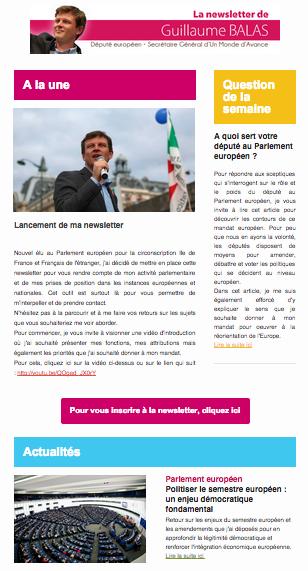 Newsletter de Guillaume BALAS Député européen • 24 septembre 2014