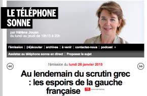 Mon débat sur France Inter «au lendemain du scrutin grec, quels espoirs pour la gauche française?»