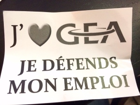 Soutien à la mobilisation des salariés deGEA